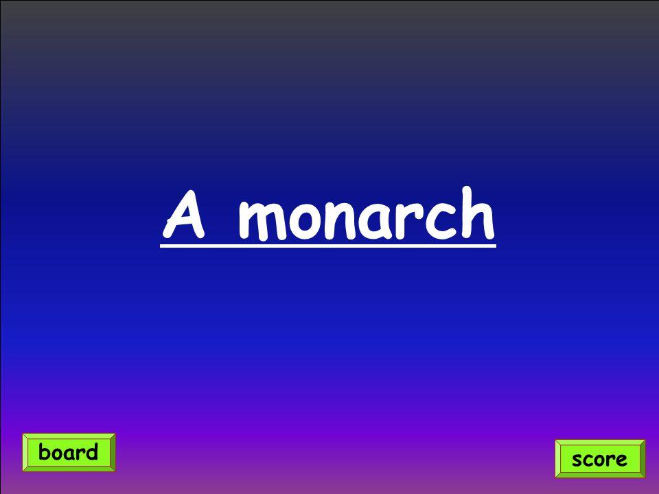 A monarch score board