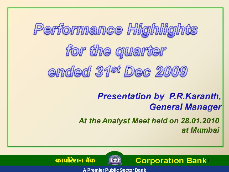 A Premier Public Sector Bank 42 Industry-wise Credit Exposure – Dec'09 Rs.