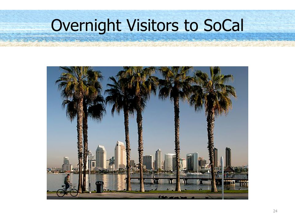 Overnight Visitors to SoCal 24