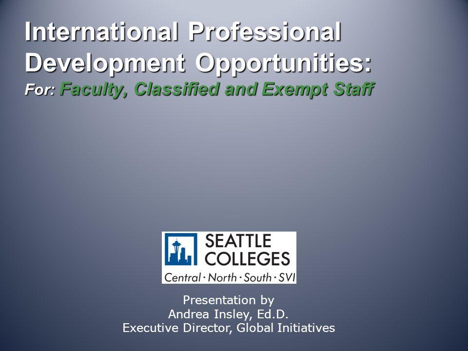 International Education Administrator Seminars Example of typical deadline dates.