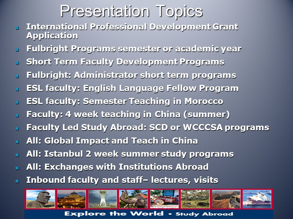 ESL Faculty: Fall Semester in Ifrane, Morocco Contract dates late August- third week December Contract dates late August- third week December $2,000/month – teaching up to 20 hrs/wk $2,000/month – teaching up to 20 hrs/wk On campus housing usually available ($300/month) On campus housing usually available ($300/month) is located in Ifrane, approx.