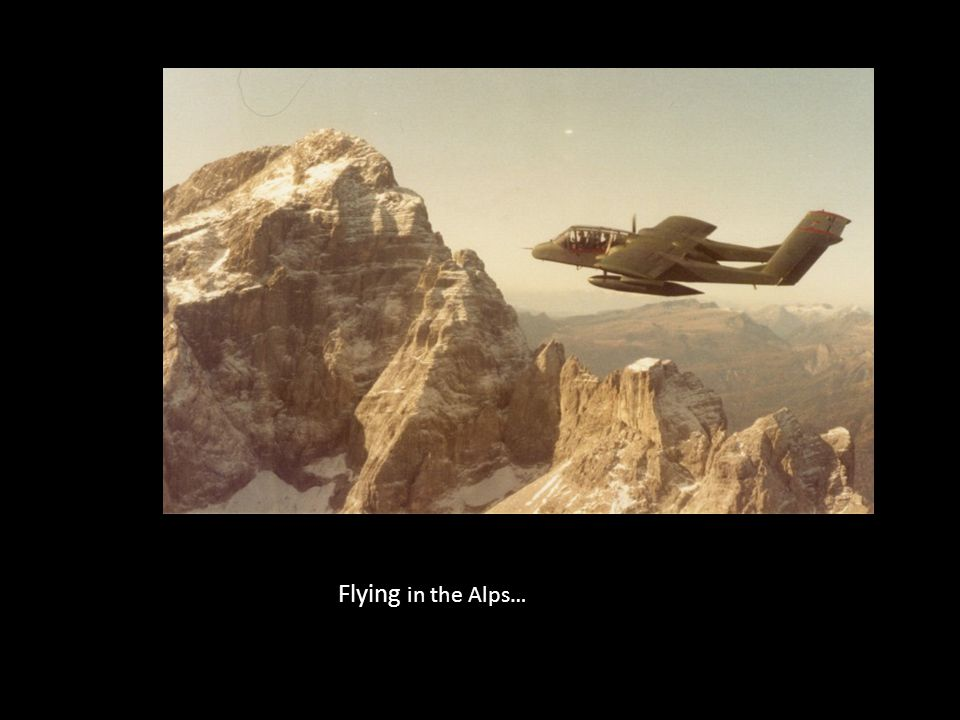Flying in the Alps…