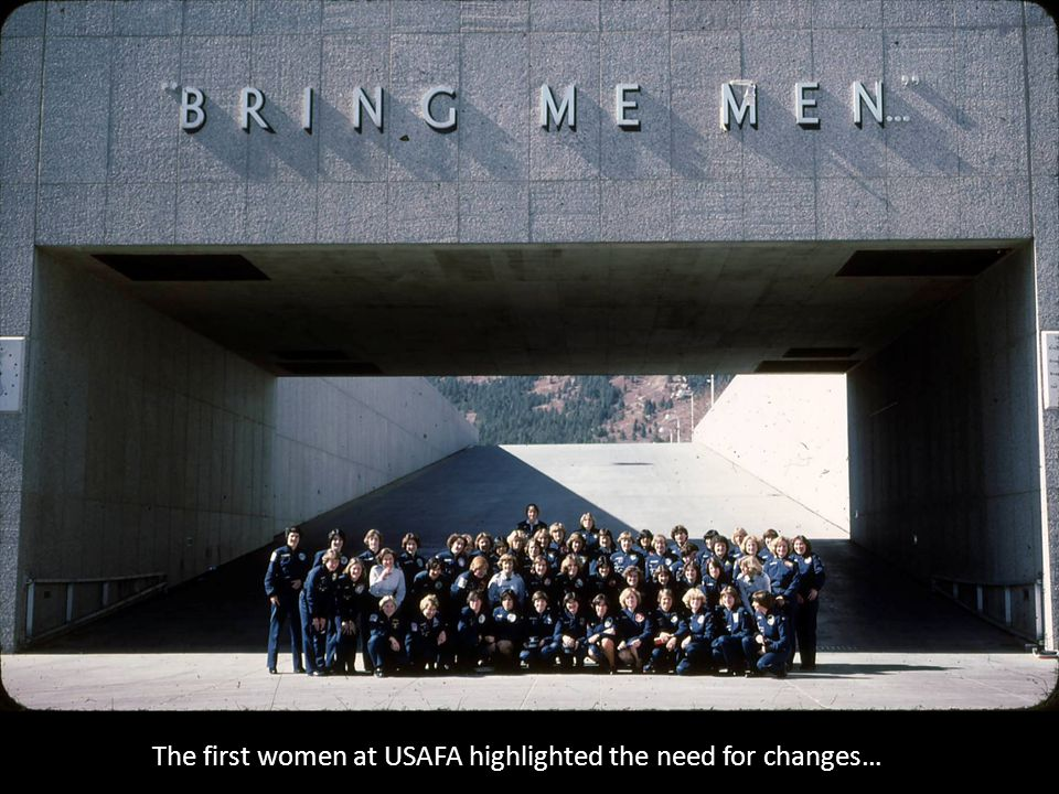The first women at USAFA highlighted the need for changes…