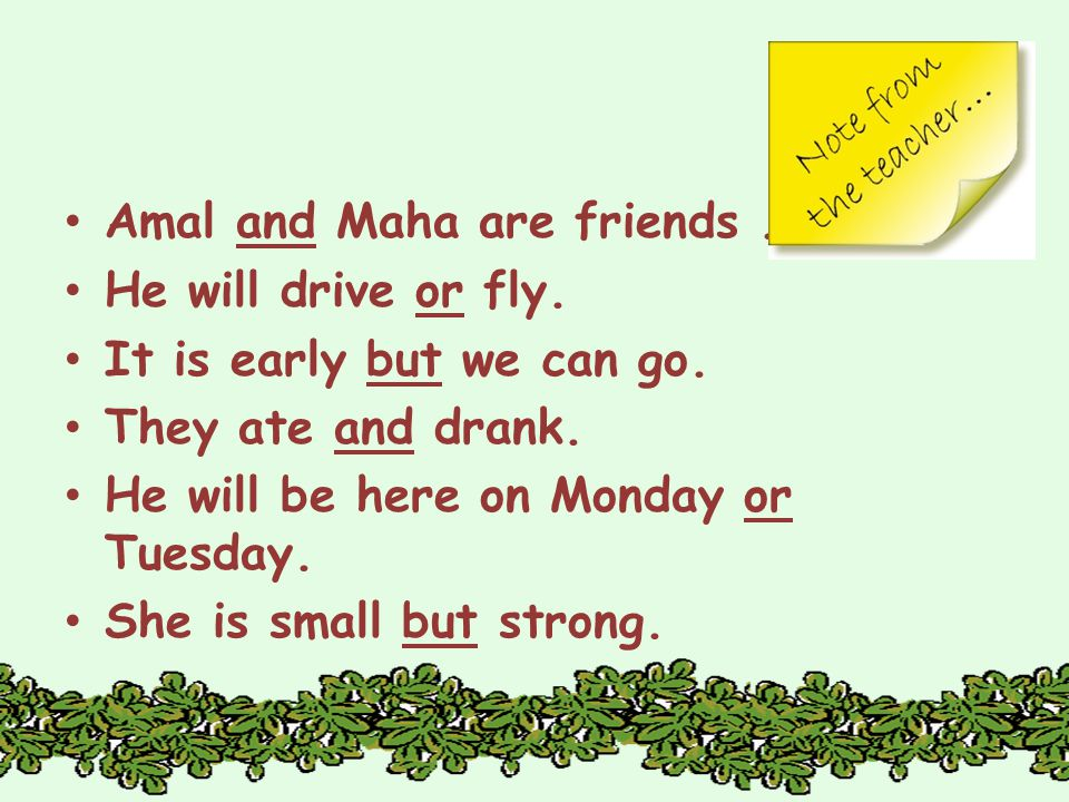 Amal and Maha are friends. He will drive or fly. It is early but we can go.
