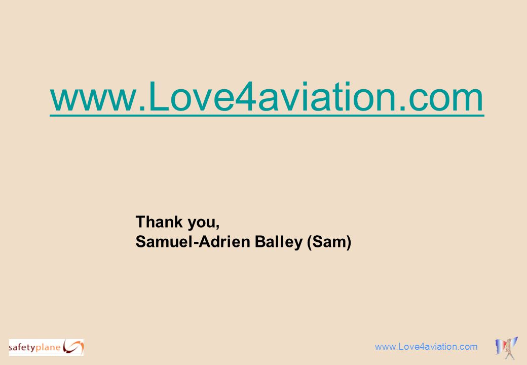 Thank you, Samuel-Adrien Balley (Sam)