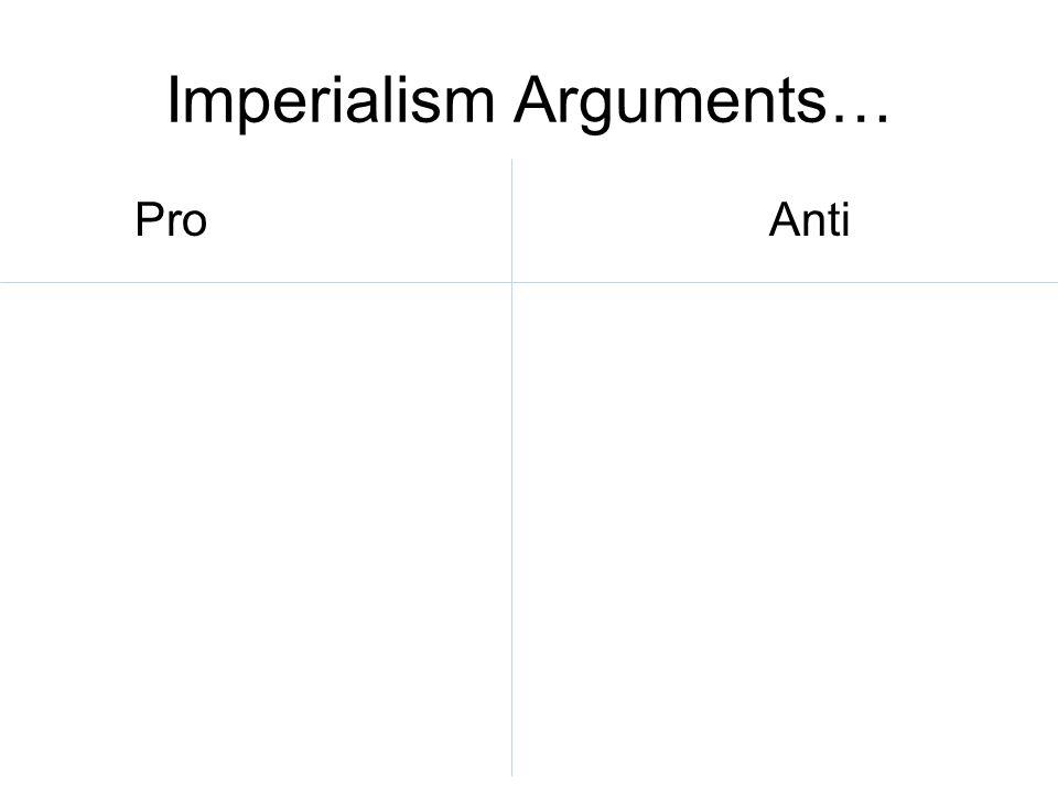 Imperialism Arguments… ProAnti