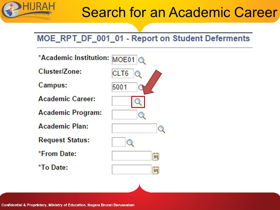 Search for an Academic Career