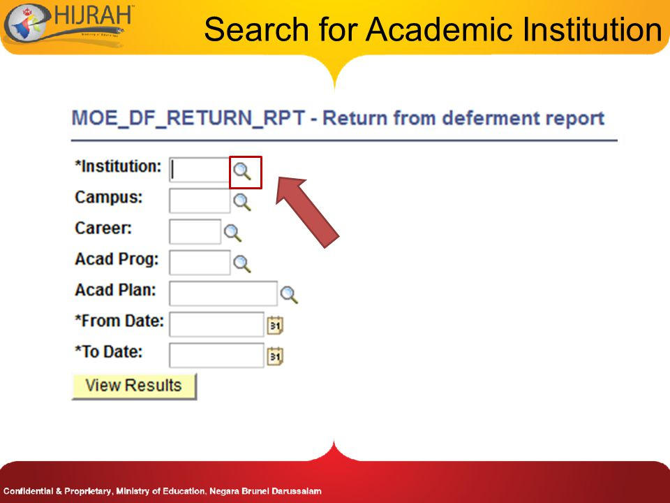 Search for Academic Institution