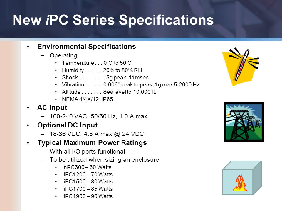 Environmental Specifications –Operating Temperature...