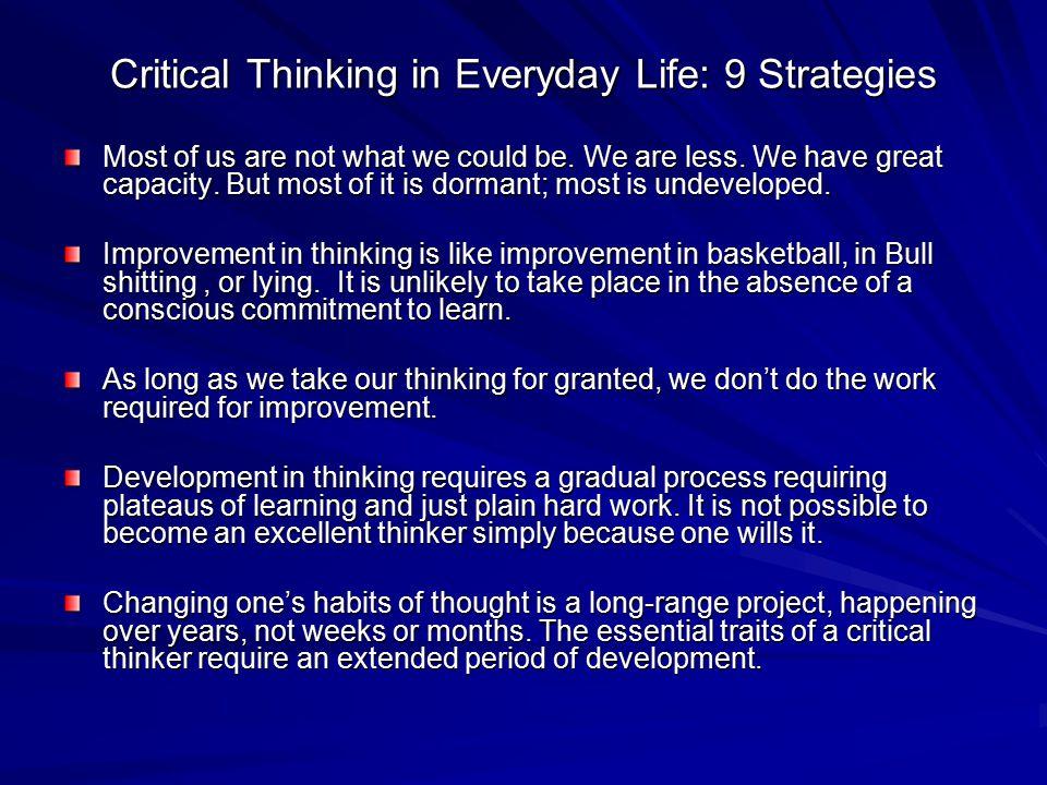 SLEEPMAYS ML   Critical thinking in everyday life essay