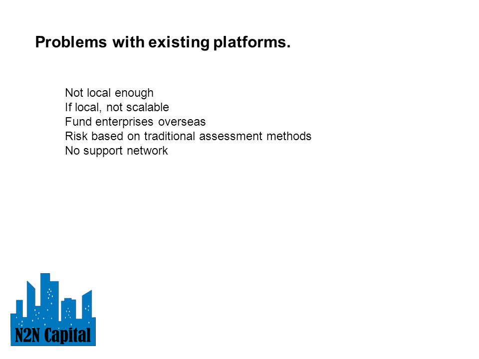 Problems with existing platforms.