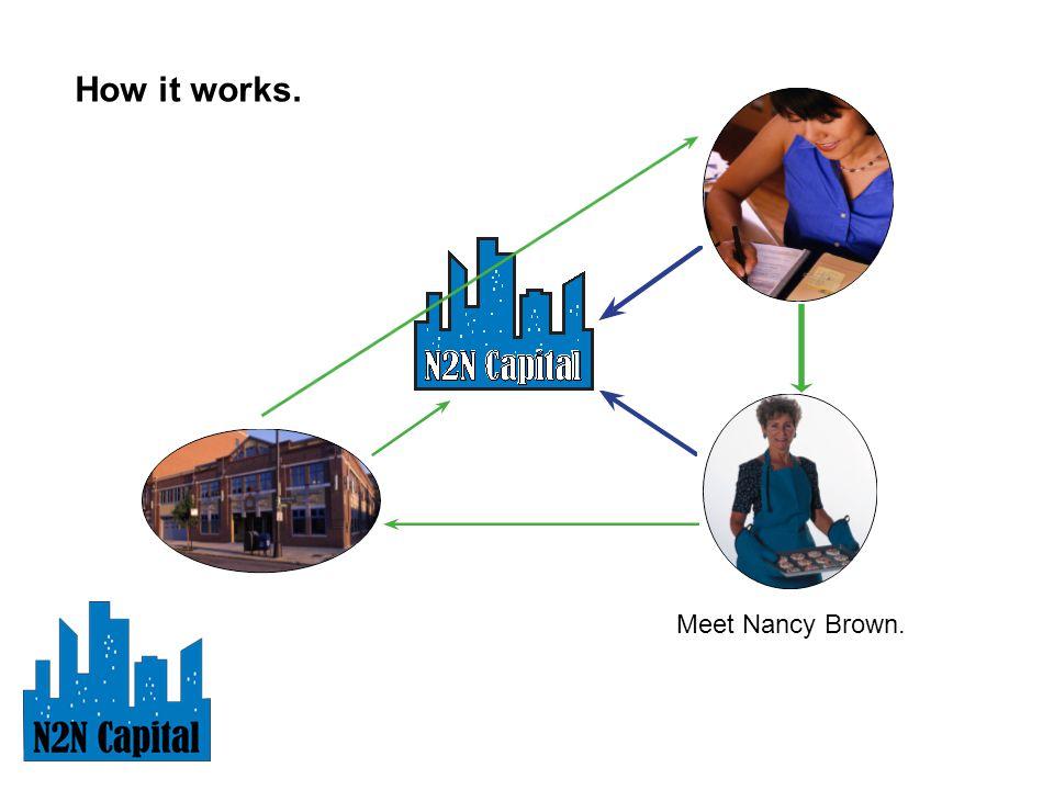 How it works. Meet Nancy Brown.