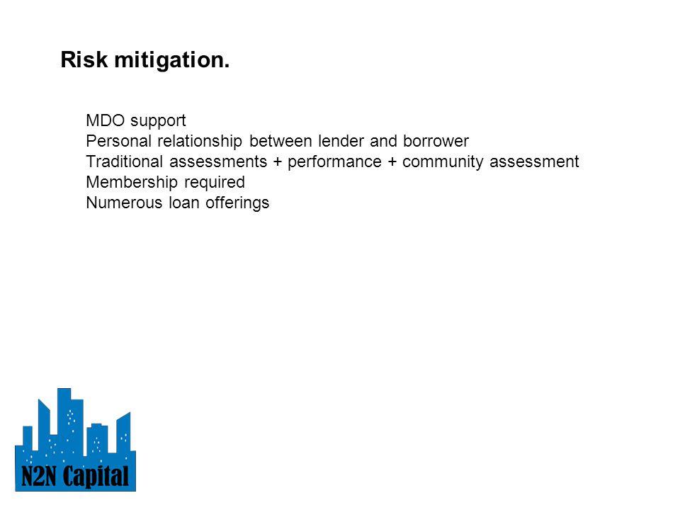 Risk mitigation.