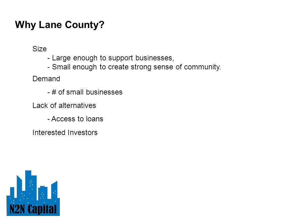 Why Lane County.