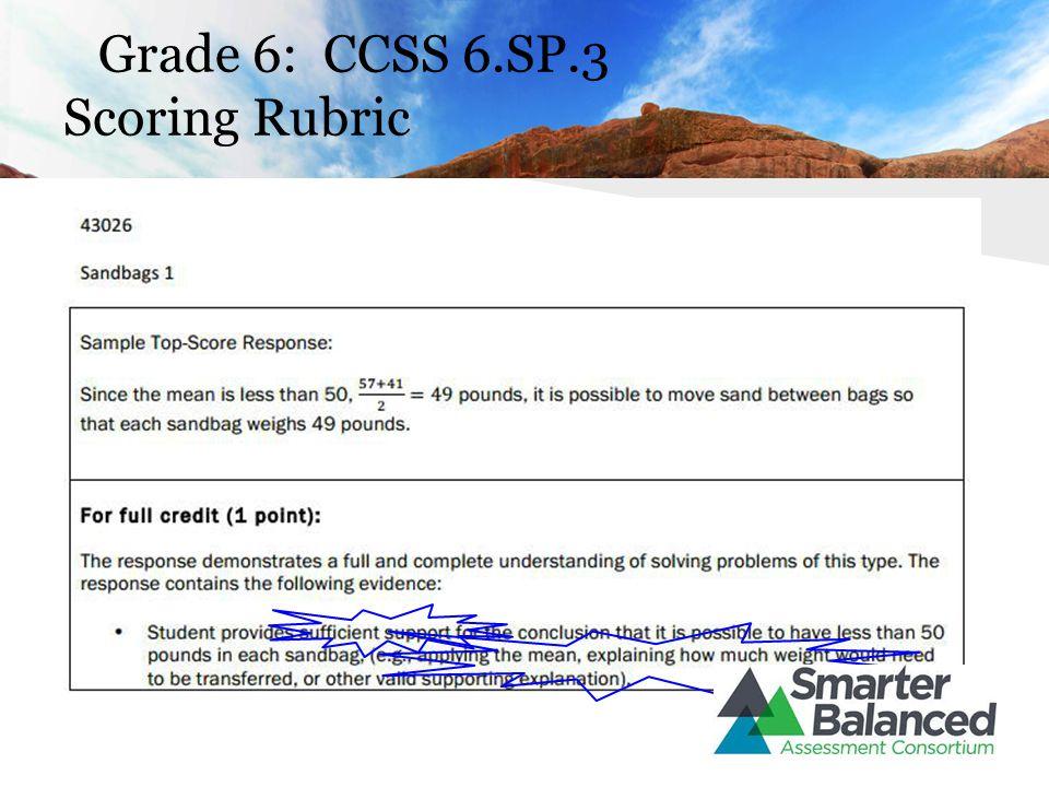 Grade 6: CCSS 6.SP.3 Scoring Rubric