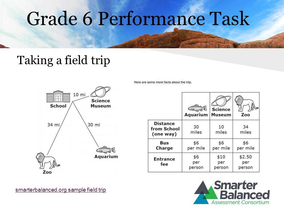 Grade 6 Performance Task Taking a field trip smarterbalanced.org sample field trip