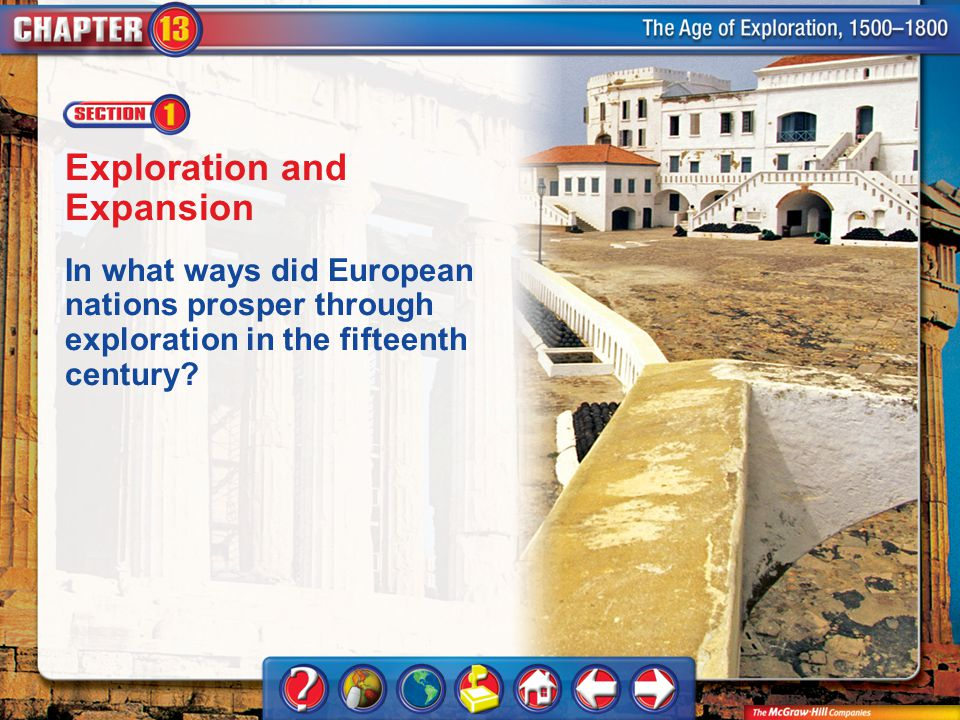 Chapter Intro 1 Exploration and Expansion In what ways did European nations prosper through exploration in the fifteenth century?