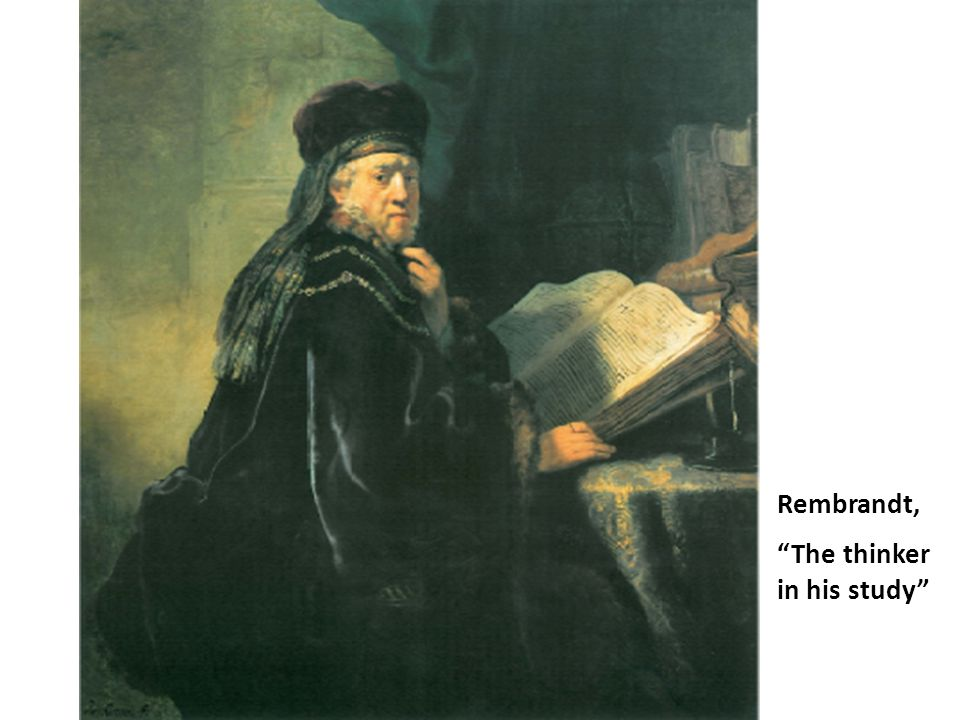 """Rembrandt, """"The thinker in his study"""""""
