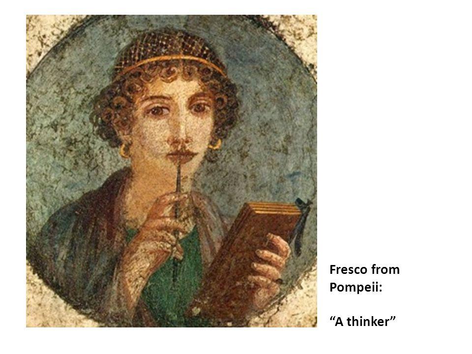"Fresco from Pompeii: ""A thinker"""