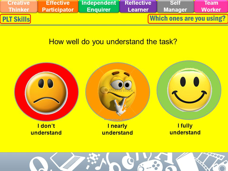 How well do you understand the task.