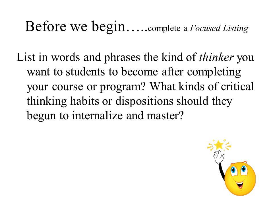 Before we begin…..