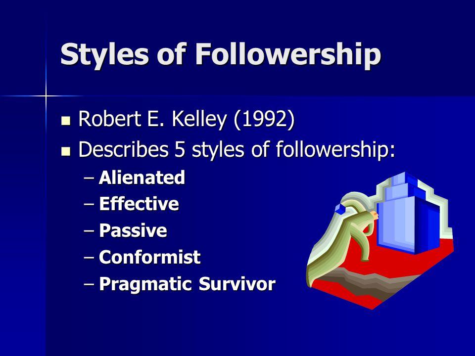 Styles of Followership Robert E. Kelley (1992) Robert E.