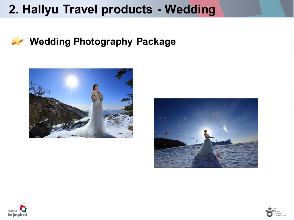29 Wedding Photography Package 2. Hallyu Travel products - Wedding