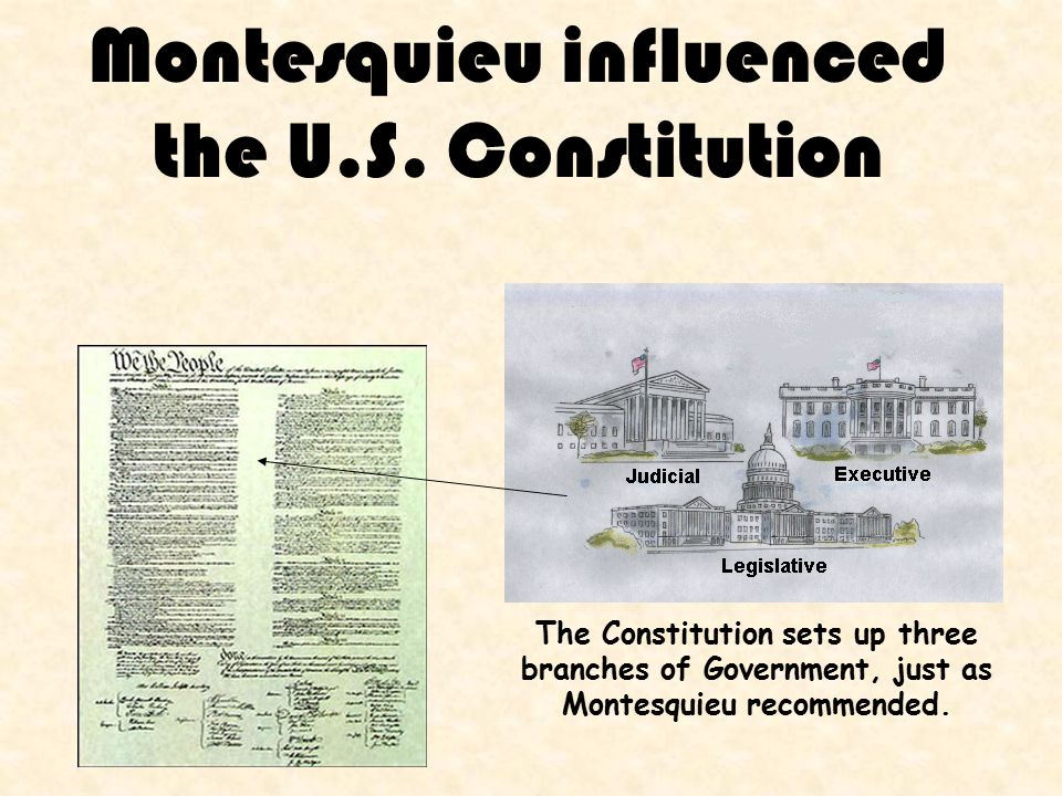 Montesquieu influenced the U.S.