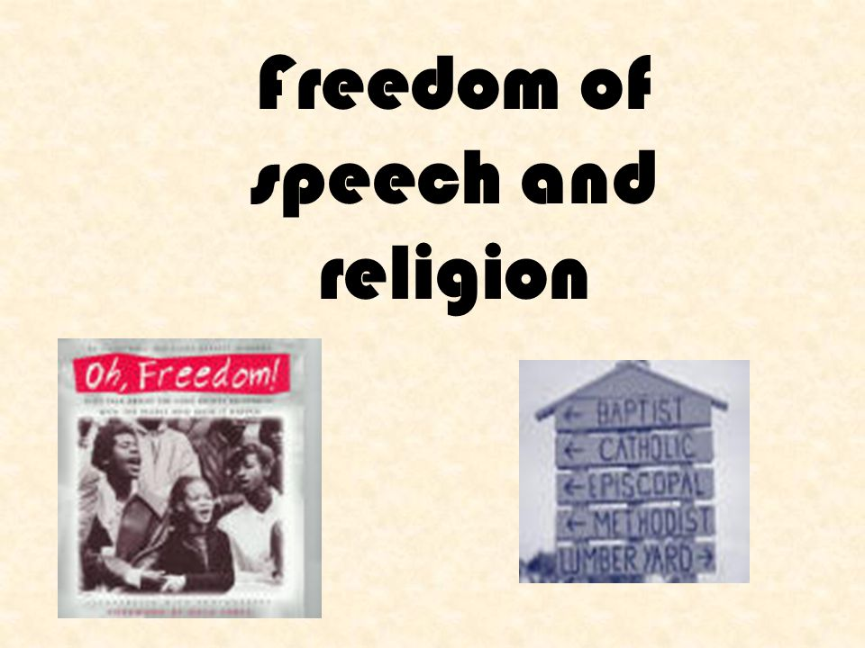 Freedom of speech and religion