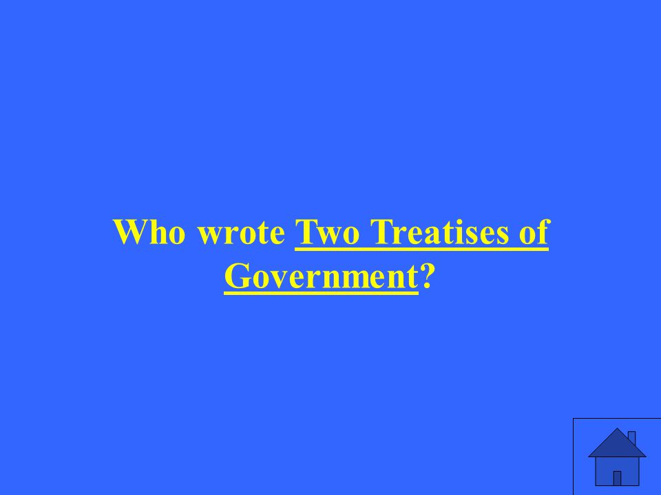 Who wrote Two Treatises of Government?