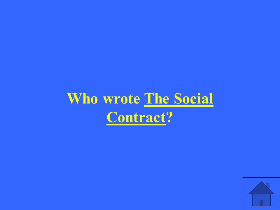 Who wrote The Social Contract?