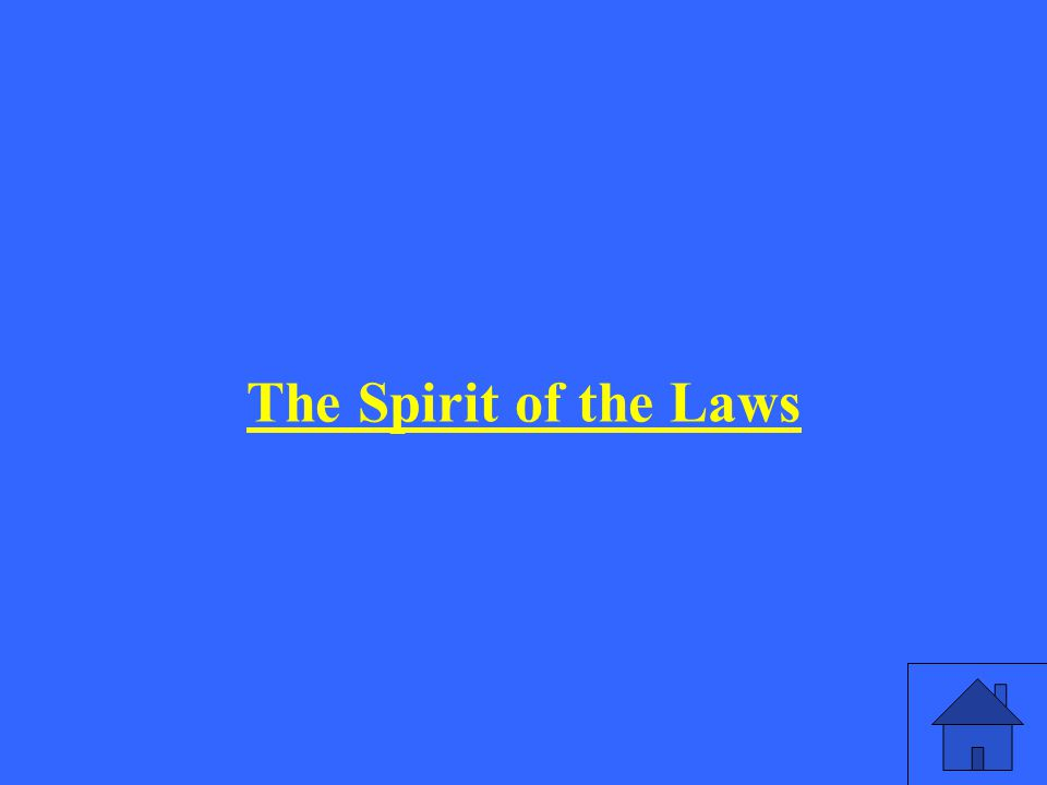 The Spirit of the Laws