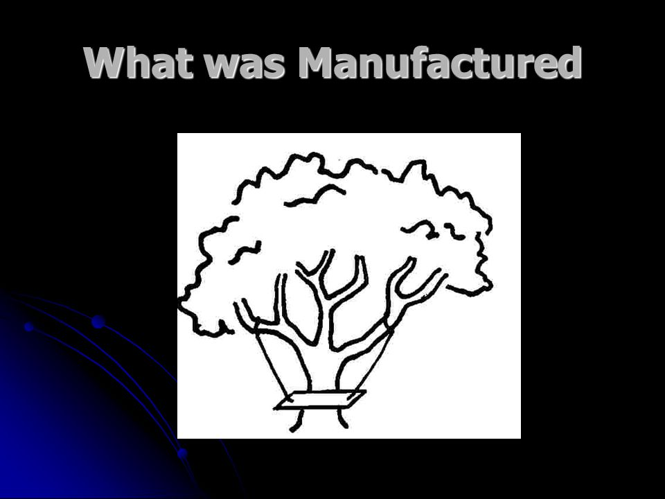 What was Manufactured