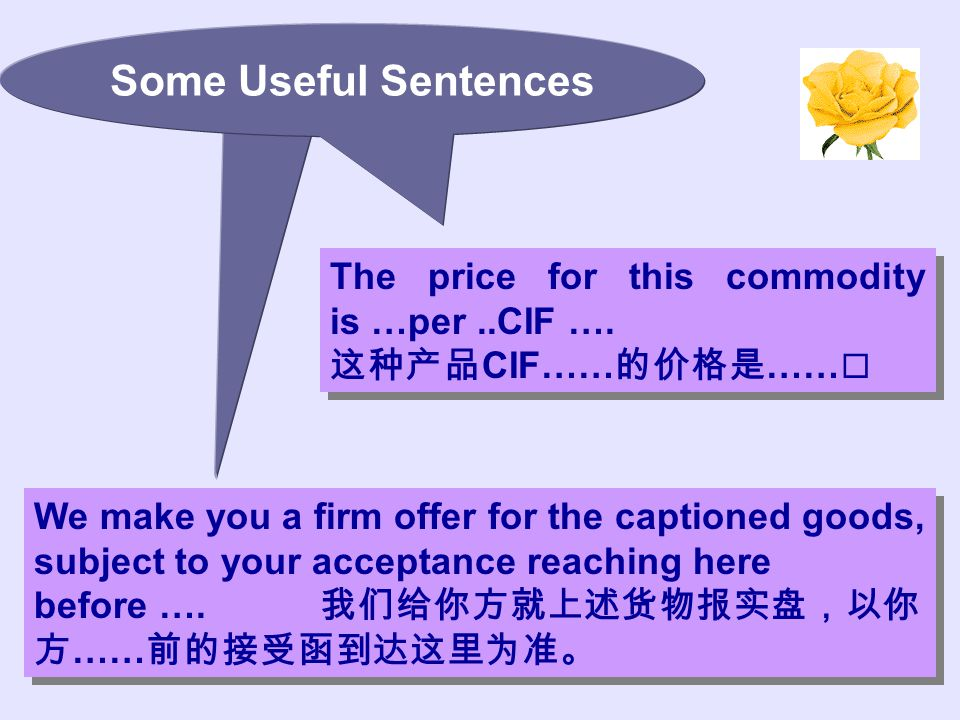 We make you a firm offer for the captioned goods, subject to your acceptance reaching here before ….