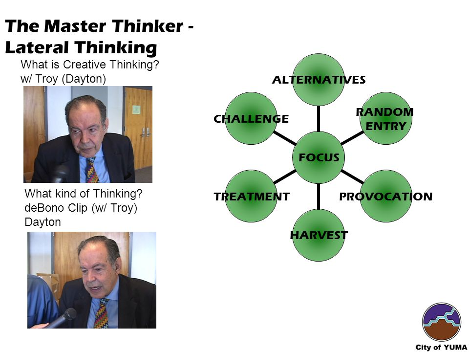 What is Creative Thinking. w/ Troy (Dayton) What kind of Thinking.