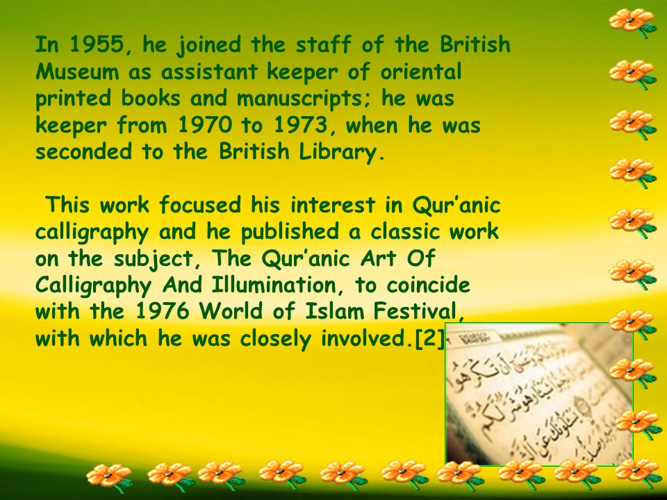 He spent the last 30 years of his life writing books, and lecturing all over the world, to a growing following.