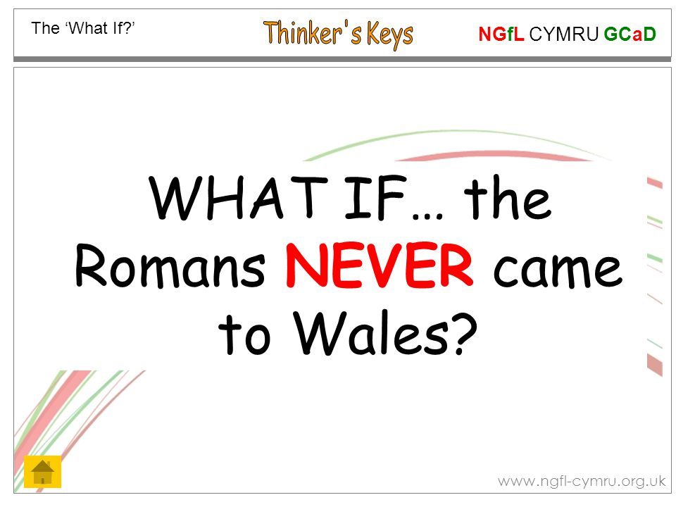 NGfL CYMRU GCaD www.ngfl-cymru.org.uk List the disadvantages of the scale armour Roman soldiers wore… The Disadvantages Now list ways of correcting or eliminating these disadvantages!