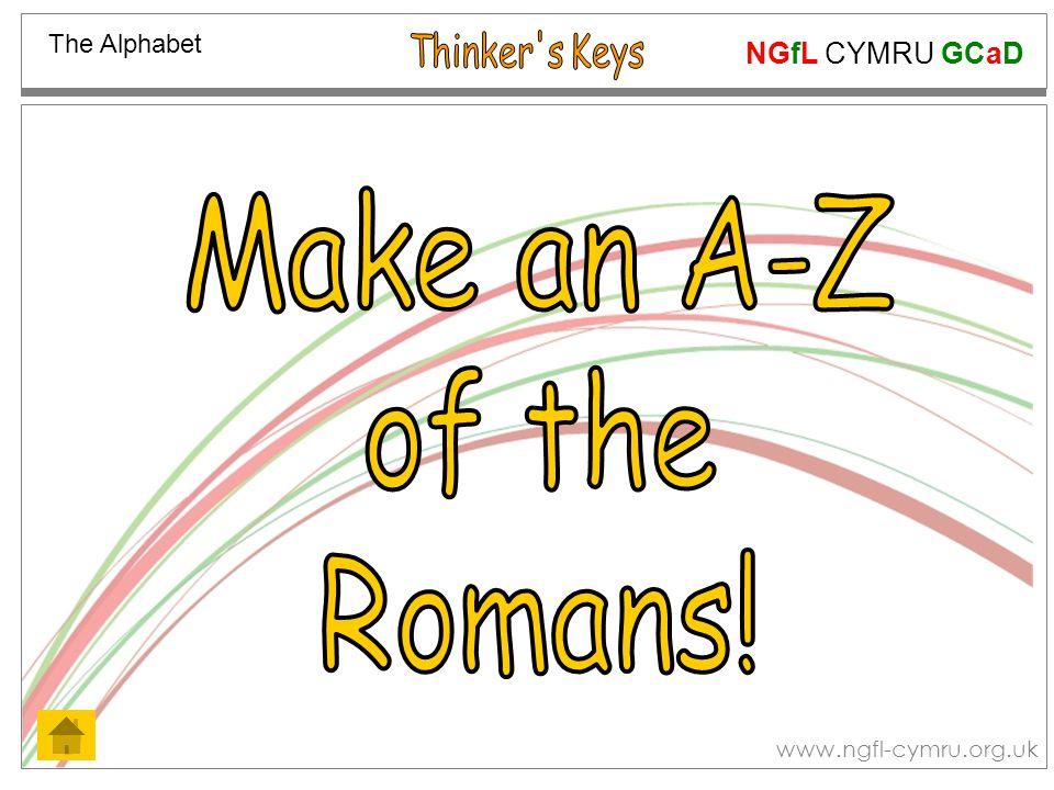 NGfL CYMRU GCaD www.ngfl-cymru.org.uk The Alphabet