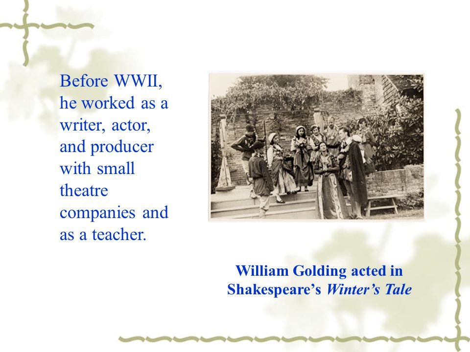 Golding was born in Cornwall and educated at Brasenose College, Oxford.
