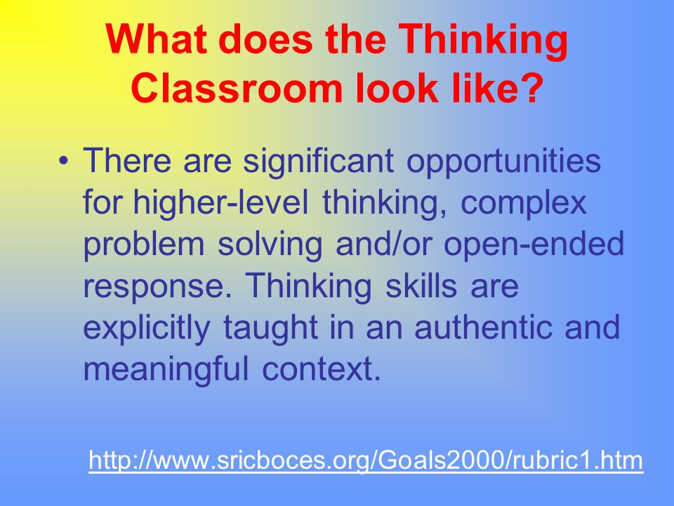 Thinking Skills in a Student Reading Program Understanding and comprehension are essential to a student's success with reading (i.e.