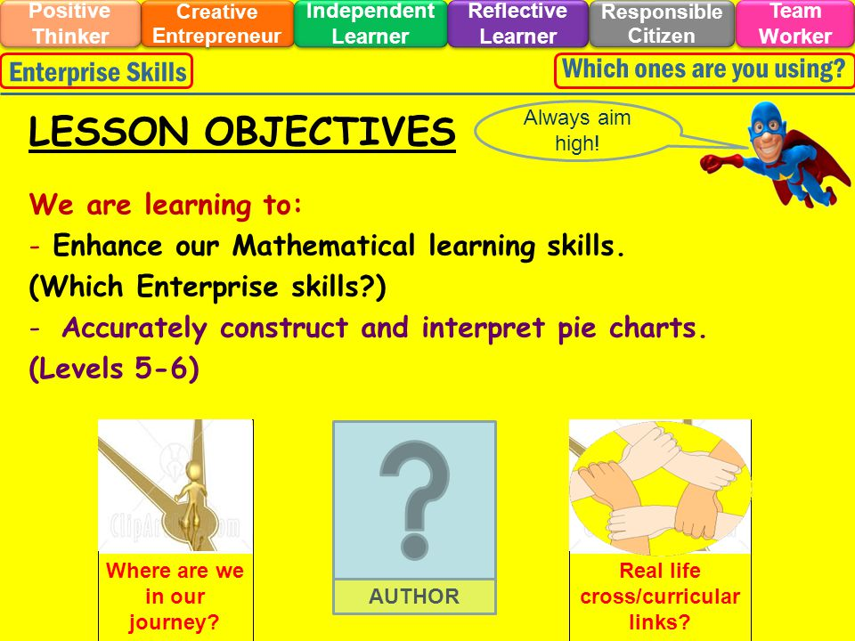 We are learning to: - Enhance our Mathematical learning skills.