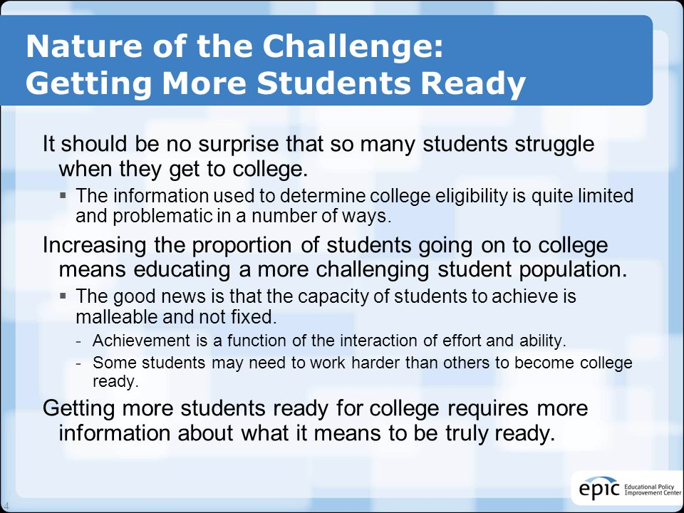 College Readiness and Career Readiness: Same or Different.