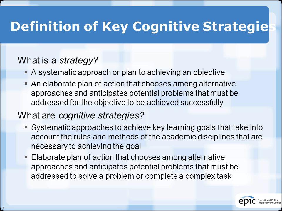 C-PAS Conceptual Design The Key Cognitive Strategies