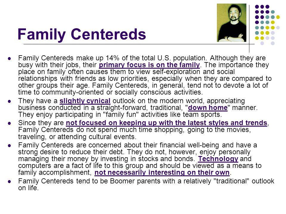 Family Centereds Family Centereds make up 14% of the total U.S.