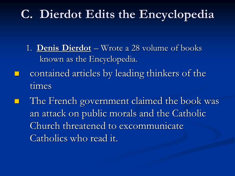 C.Dierdot Edits the Encyclopedia 1.