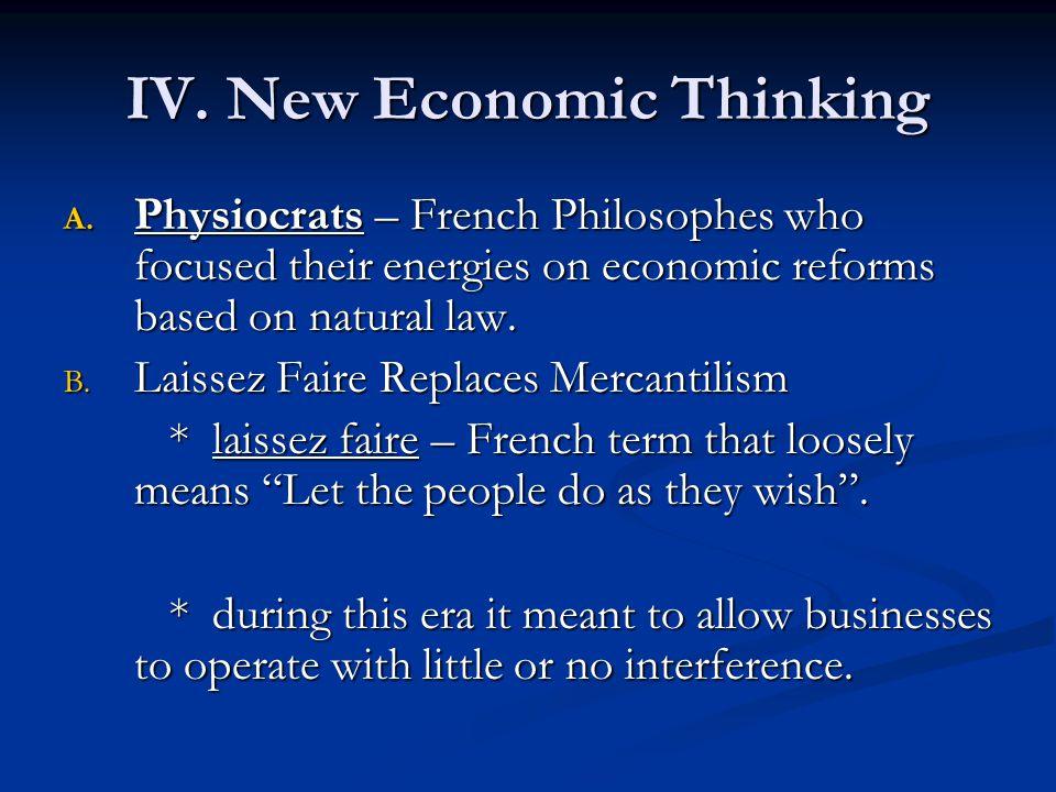 IV.New Economic Thinking A.
