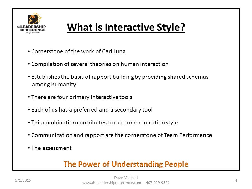 What is Interactive Style.