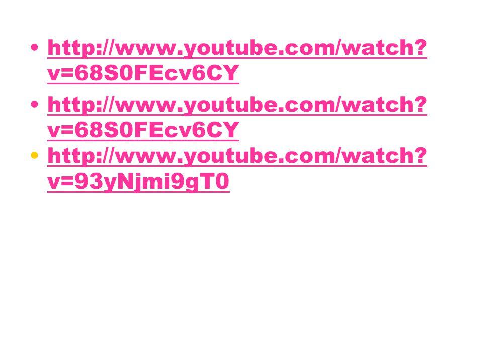 http://www.youtube.com/watch? v=68S0FEcv6CYhttp://www.youtube.com/watch? v=68S0FEcv6CY http://www.youtube.com/watch? v=68S0FEcv6CYhttp://www.youtube.c