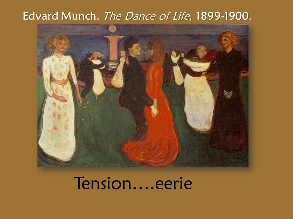 Edvard Munch, The Dance of Life, 1899-1900. Tension….eerie