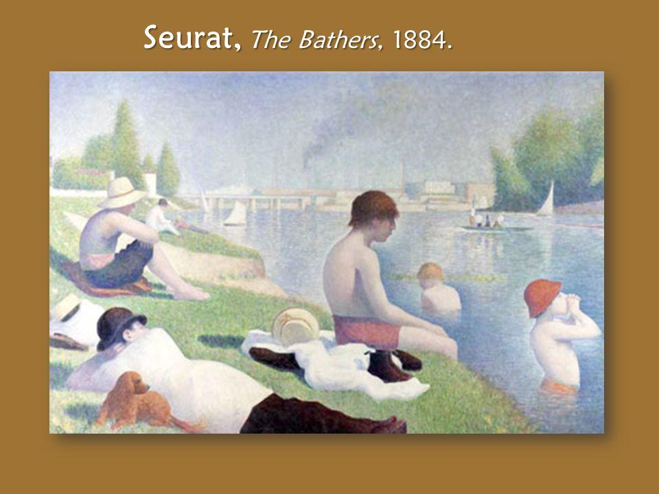 Seurat, The Bathers, 1884.